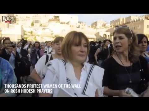 JPostTV: Thousands of haredim protest Women of the Wall prayers at Kotel