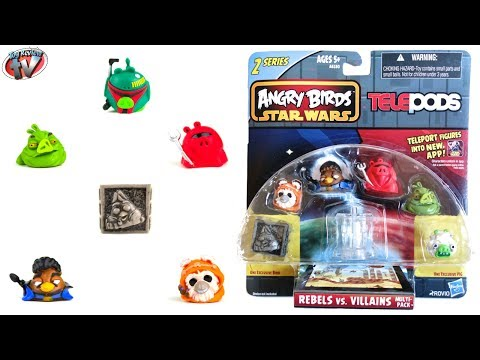 Angry Birds Star Wars: Telepods Series 2 Rebels vs Villains Multipack Toy Review, Hasbro