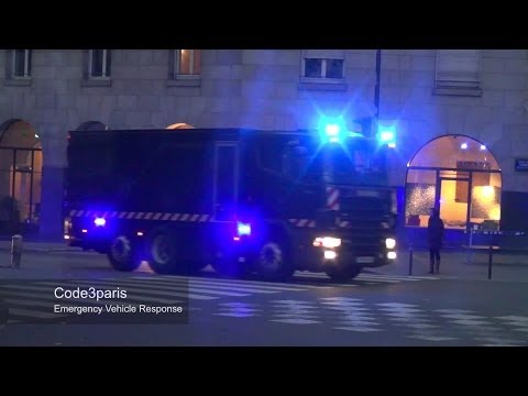 Police Escort Heavily Armed Bank Transfer // Banque de France COTEP Gendarmes