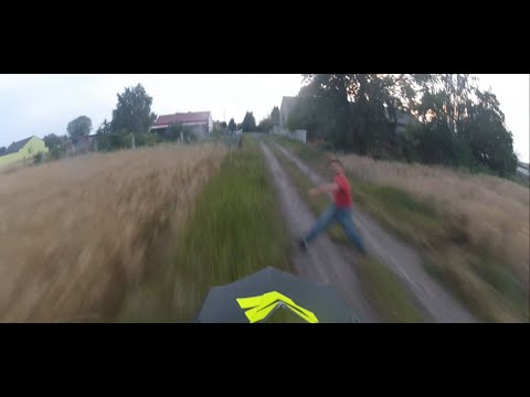 Angry guy vs cross riders