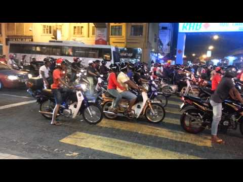 Motorcyclists Mat Rempit In Kl video