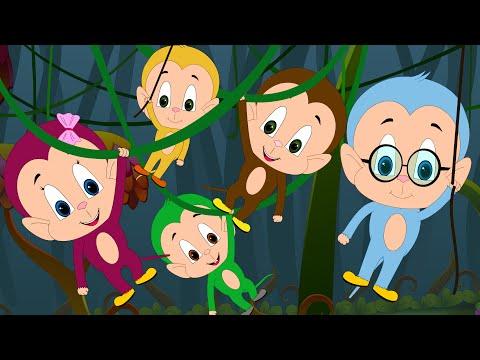 Five Little Monkeys Jumping On The Bed | Nursery Rhymes for Children | Little Kids TV
