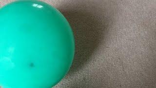 Indoor football with a balloon