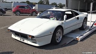 White Ferrari 288 GTO Start Up, Rev Sound & Loading Into a Truck!