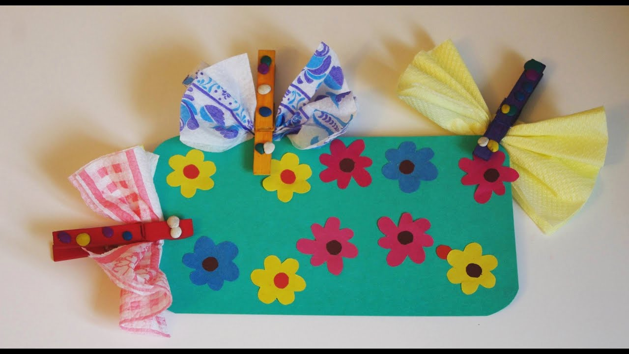 Поделки с детьми в саду из цветной бумаги