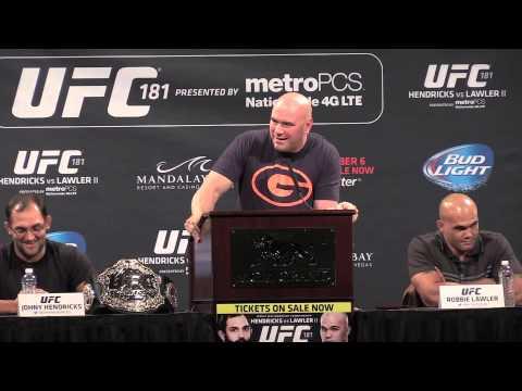 UFC 181 Press Conference Sept