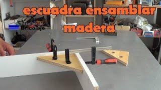 Cómo hacer una sencilla escuadra para ensamblar madera