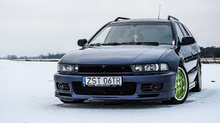 On board Mitsubishi Galant 2.5 v6 snow drift