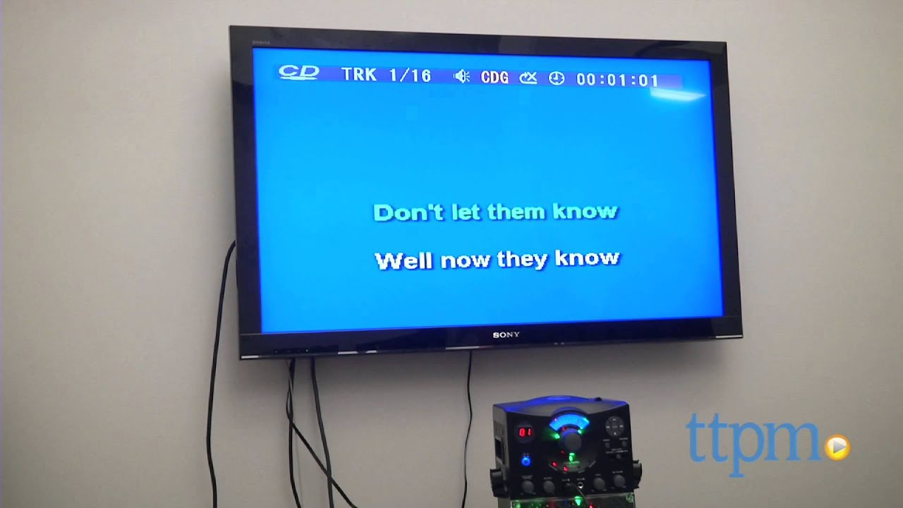 karaoke machine to tv