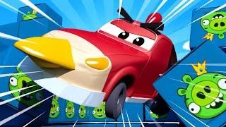 Matt nhí là ANGRY BIRD - cửa hàng sơn của Tom 🎨 những bộ phim hoạt hình về xe tải
