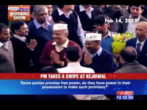 Narendra Modi Takes a Swipe at Arvind Kejriwal