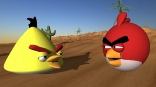 Angry Birds vs. Worms 3D animation
