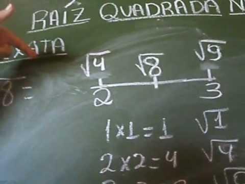 RAÍZ QUADRADA NÃO EXATA - FÁCIL - FÁCIL - PROFª LÚCIA FARIA de Buritizeiro-Mg -PARTE III