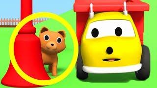 Ethan, o Caminhão Basculante brinca com um GATINHO e aprende CORES   Desenho Animado Educativo