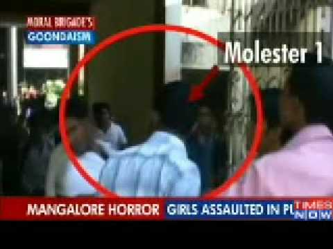 Girls assaulted in Mangalore pub by Sri Ram Sena and Bajrang Dal ...