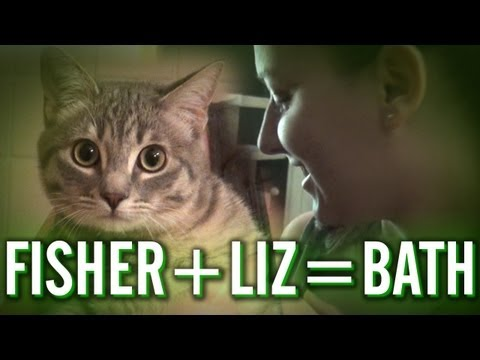 Liz Gives Fisher a Bath