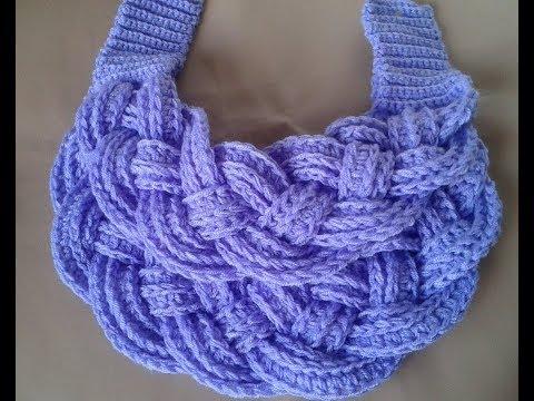 bufanda navidad facil a crochet how to do scraff (subtittles)