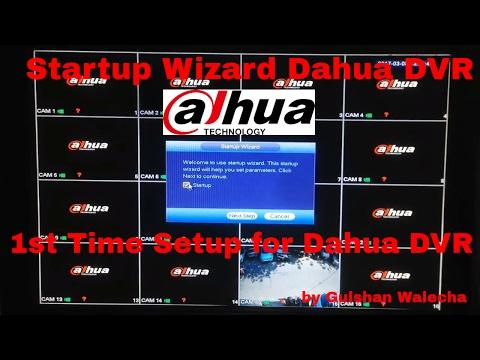 Dahua DVR Startup Wizard  Dahua DVR 1st Time Setup Dahua Part-2