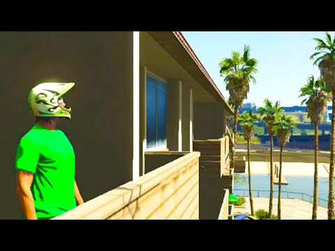 GTA 5 Funny Moments - Amazing Balcony Stunt (GTA V Online Gameplay)