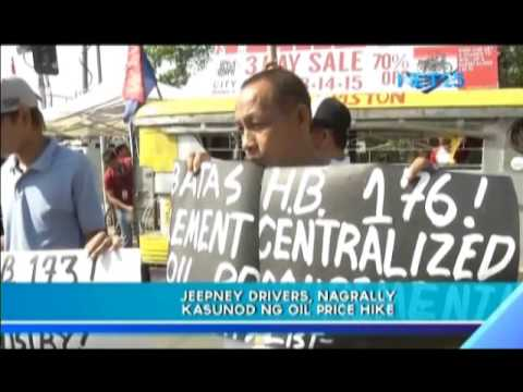 Jeepney drivers rally due to oil price hike