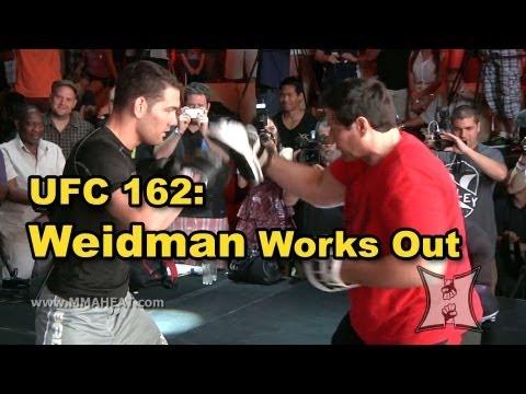 UFC 162 Chris Weidmans Complete Open Workout unedited