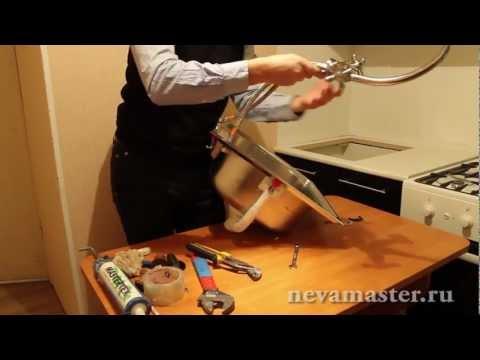Видео как снять раковину