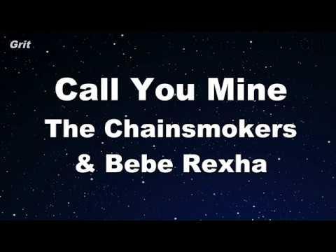 Call You Mine - The Chainsmokers, Bebe Rexha Karaoke 【No Guide Melody】 Instrumental