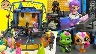 Shopkins Happy Places Shoppies Dolls Go To Playmobil Concert - Band Stage Playset
