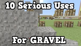 Minecraft - 10 REAL USES FOR GRAVEL