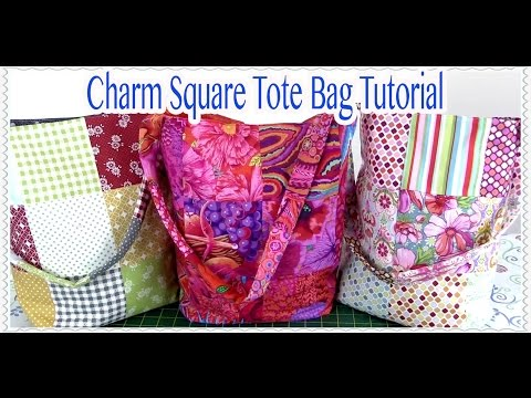 Tote Bag Tutorial: EASY Charm Square Tote Bag Tutorial