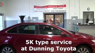 5K Mile Service Center At Dunning Toyota In Ann Arbor, MI