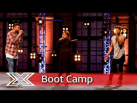 Ivy Grace Paredes, Mike Hough and Lascel Wood cover Mariah Carey| Boot Camp | The X Factor UK 2016
