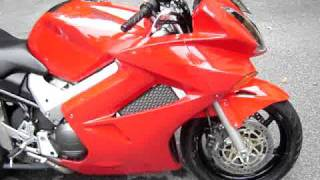 Honda VFR800 Vtec Gutted Stock Exhaust Sound