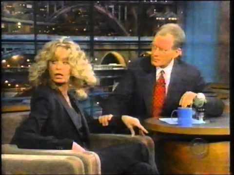 Farrah Fawcett on Letterman   1999