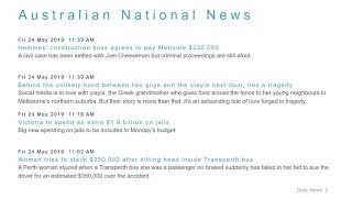 National News Headlines for 24 May 2019 - 1 PM Edition