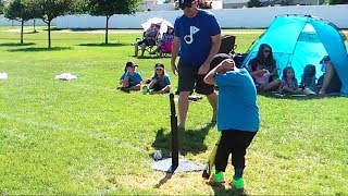 KID HITS HEAD WITH BASEBALL BAT! ⚾️T-BALL⚾️