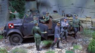 "Historic WW2 diorama in 1/35 scale "" blockhaus installation"""