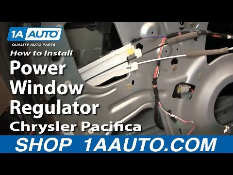How to install repair replace broken power front window for 04 pacifica window regulator
