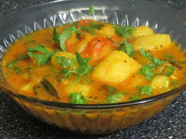 Spicy aloo curry (potato curry) by crazy4veggie.com