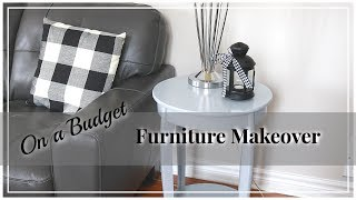 Budget Friendly Furniture Makeover | Refreshing Old Furniture | Painting Furniture