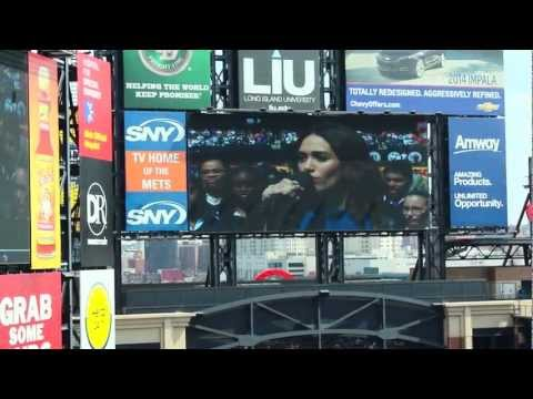 Mets Opening Day 2013 Emmy Rossum Sings the National Anthem