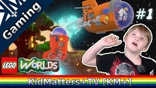 Lego Worlds - Rocket Ship Away! Worlds to explore. Part 1 [KM+Gaming S01E30]