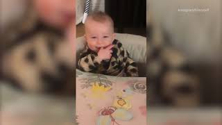 Hilary Duff sweetly teases her sleepy baby daughter Banks