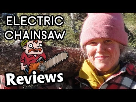 electric chainsaw review - including cordless chainsaws