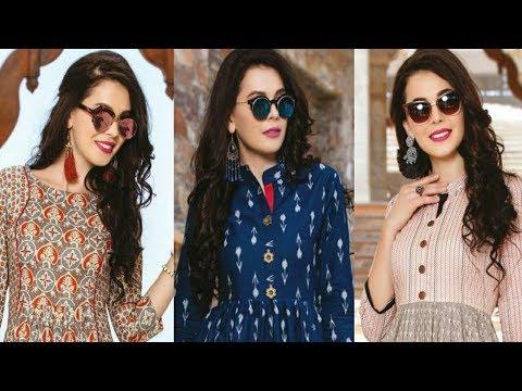 Designer Long Kurti Designs|Latest Cotton Rayon Kurti Design|Latest Designer Kurti 2018|Trendy India