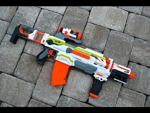 [REVIEW] Nerf N-Strike Modulus ECS-10 Unboxing. Review. & Firing Test