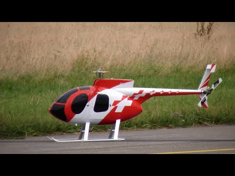 R/C Helicopter Swiss Style Hughes MD500 Heli Challenge 2015 Dübendorf