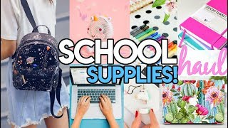 BACK TO SCHOOL SHOPPING HAUL! 2018 - Macbook, Moleskin Notebooks, MUST HAVE Technology & More!