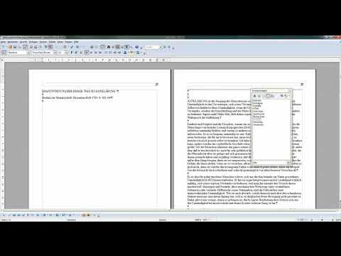 09 Seitennummerierung ohne Seitennummer auf der Titelseite - OpenOffice / LibreOffice Writer