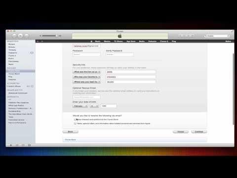 Создание бесплатного Apple iD в iTunes Store